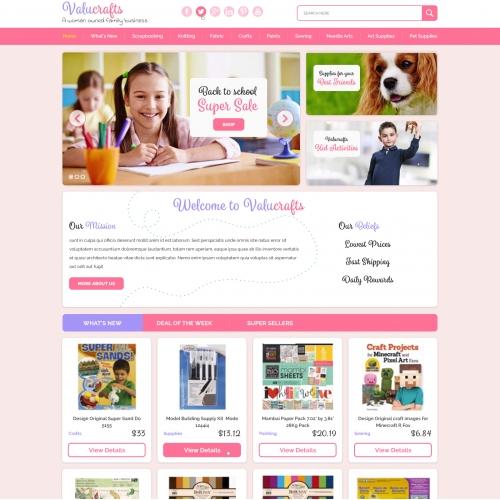 Feminine Website Clean and Professional